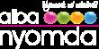 albanyomda logo - white